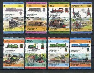 D124228 Trains Locomotives MNH Grenadines of St.Vincent