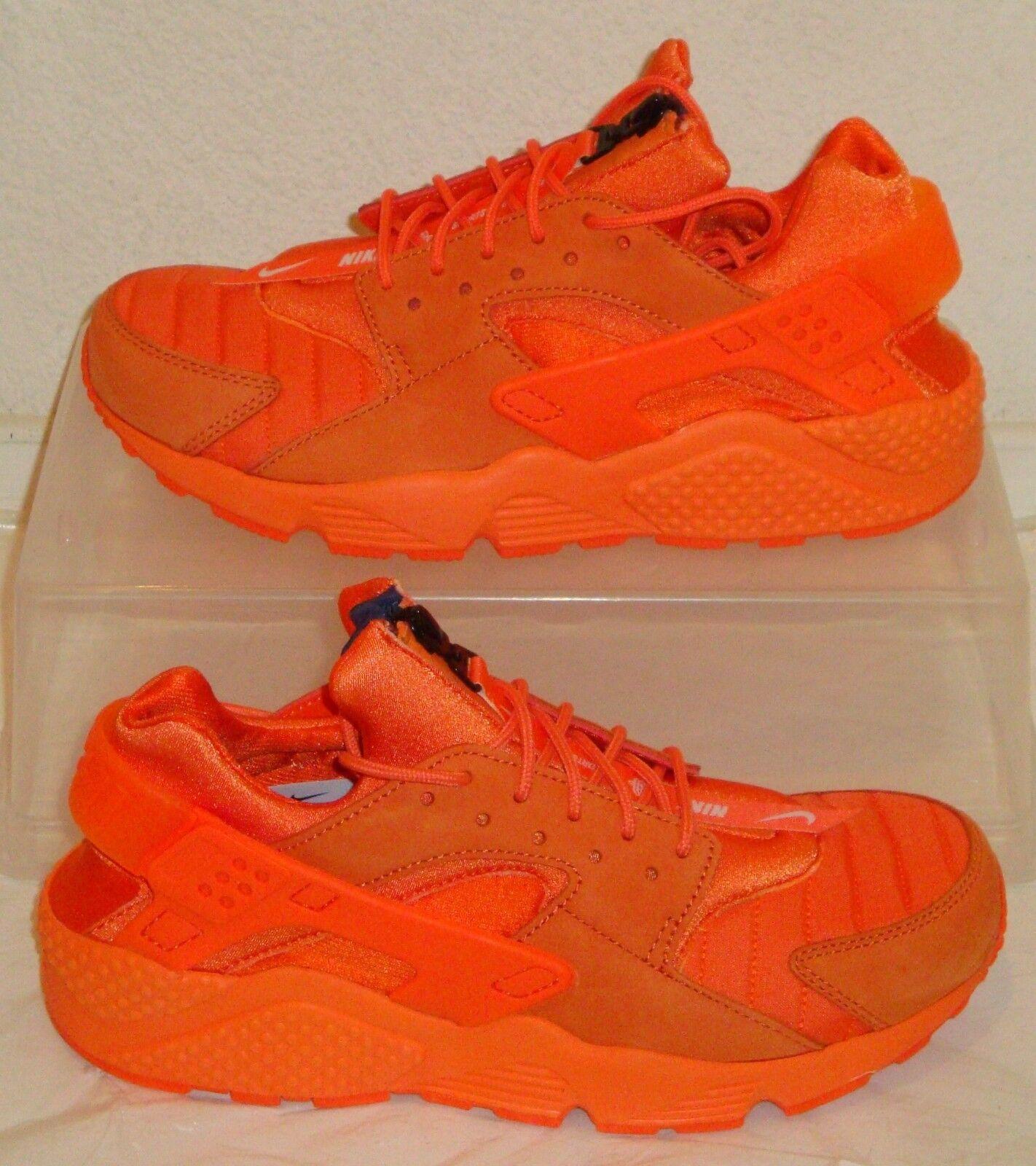 Nike Shoes Air Huarache Run QS Orange Blaze Navy Mens US Size 8