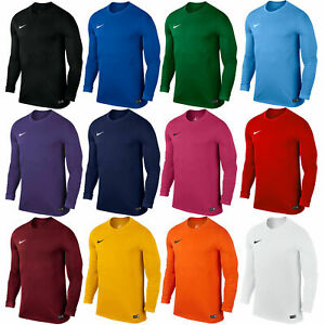 Nike-Mens-T-Shirt-Long-Sleeve-Park-Football-Jersey-Training-Top-Size-S-M-L-XL