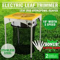 """18"""" Elektrisch Erntemaschine Tumble Trimmer Trimbox Blatt Leaf Bud Reaper Grow"""