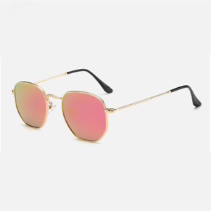lunettes de soleil homme femme vintage hexagonal hexagonal miroir ... 0941007ae874