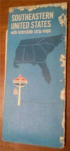 Details about Vintage, 1970 Standard Oil Road Map for Southeastern United  States
