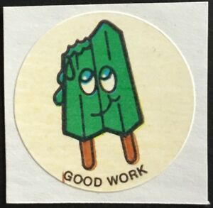 Vintage CTP MATTE Scratch /& Sniff Stickers Lime #1 Mint Condition!!