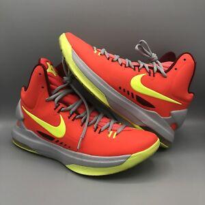 Nike Zoom KEVIN DURANT KD V 5 DMV CRIMSON ORANGE VOLT WOLF GREY ... 550aa279a6