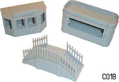 Kiosque & Escaliers Ensemble Calibre 00 Neuf Lot Plastique As Effectively As A Fairy Does Dapol C018 Toys & Hobbies Buildings, Tunnels & Bridges