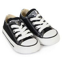 Converse Infants/toddlers Black Lace All Star Classic Sneakers Toddler Size 7