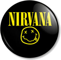 "NIRVANA 25mm 1"" Pin Button Badge Rock Grunge Band Kurt Cobain Dave Grohl Music"