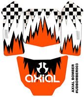 Axial Bomber Skin Decal Wrap Orange Checker Flag Sticker Ultradecal 3m Vinyl on sale