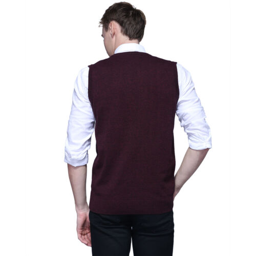Men/'s pullover Gilet Tricot Chaud Col V Sans Manches Pullover Tops Chemise M-2XL