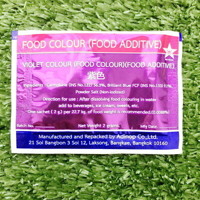 violet colour food coloring powder safe additive bakery sweets Thai made  product | eBay