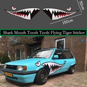 59/'/' Racing Decals Shark Mouth Teeth Die-Cut Vinyl Decal Car Fender Sticker Cool