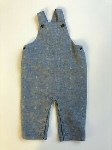 NWOT Janie and Jack Chambray Anchor Jon Jon Shortall Overalls Size 3-6 months
