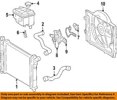 One New Genuine Radiator Coolant Hose Upper 2095013982 for Mercedes MB CLK350