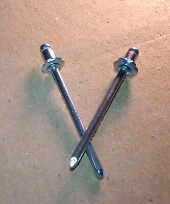 """UNIVERSAL GM FORD MOPAR AMC 2 1 pair ROSETTE RIVETS 1//8/"""" STAINLESS STEEL"""