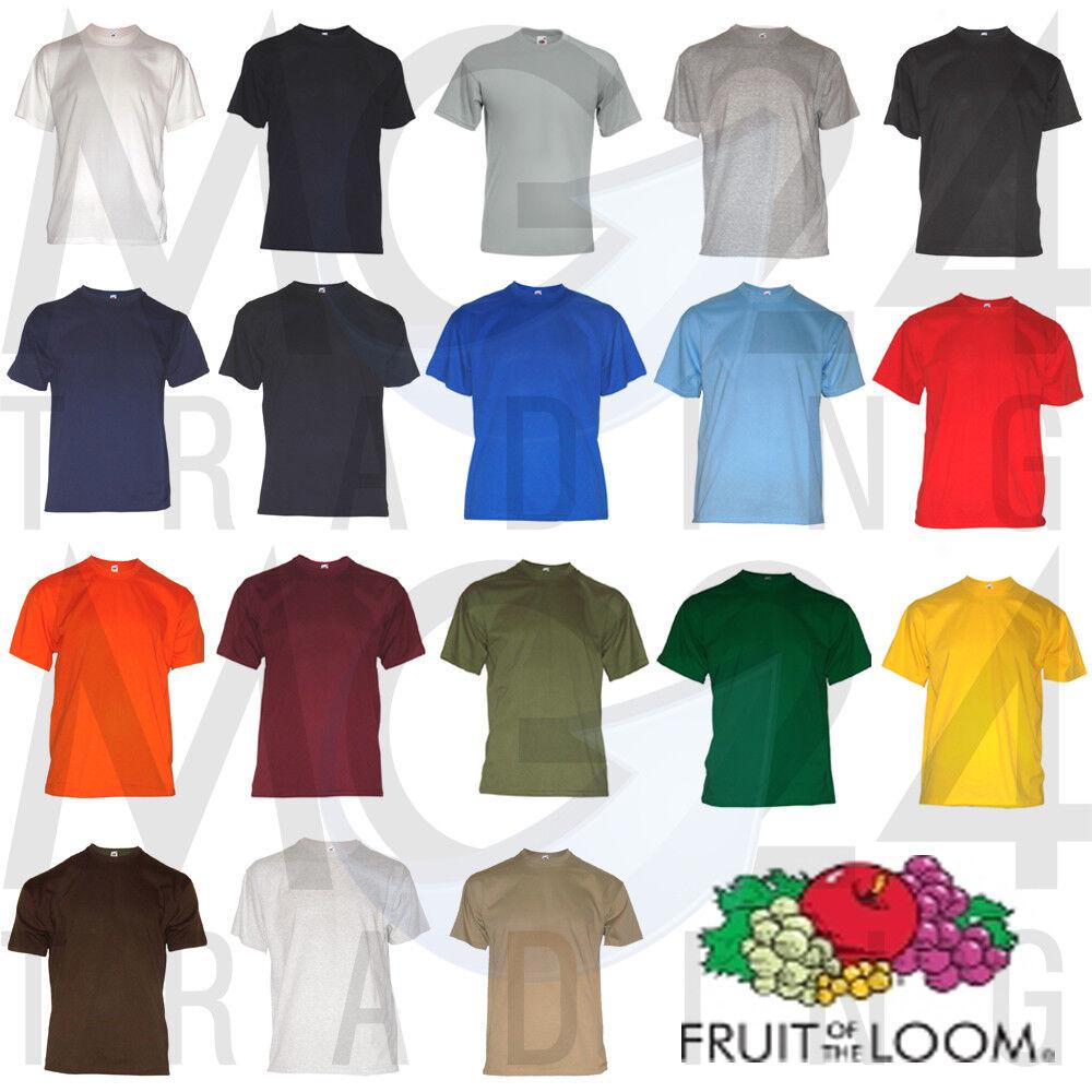 10er Set Men's T-Shirt Fruit of the loom unisex S M L XL XXL 3XL 18 colors NEW