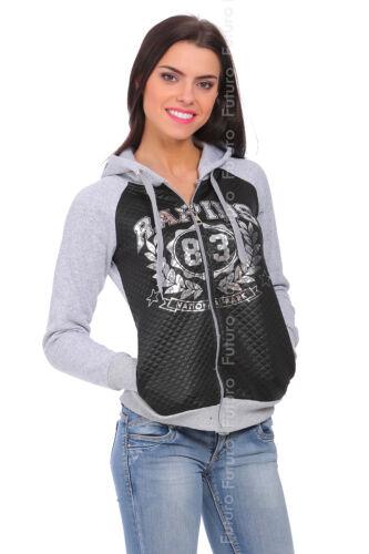 Ladies Comfy Casual Hoodie Zip Up Long Sleeve Jacket Hooded Sweatshirt FZ75