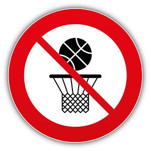 6cb63072819d2 Details about No Basketball Ban Stop Sign Car Bumper Sticker Decal 5'' x 5''