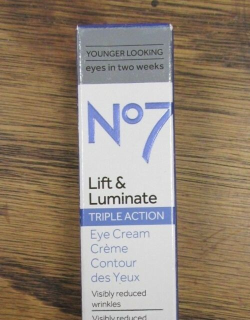 NEW!! BOOTS No.7 Lift & Luminate Triple Action Eye Cream .5oz (9035/5247)