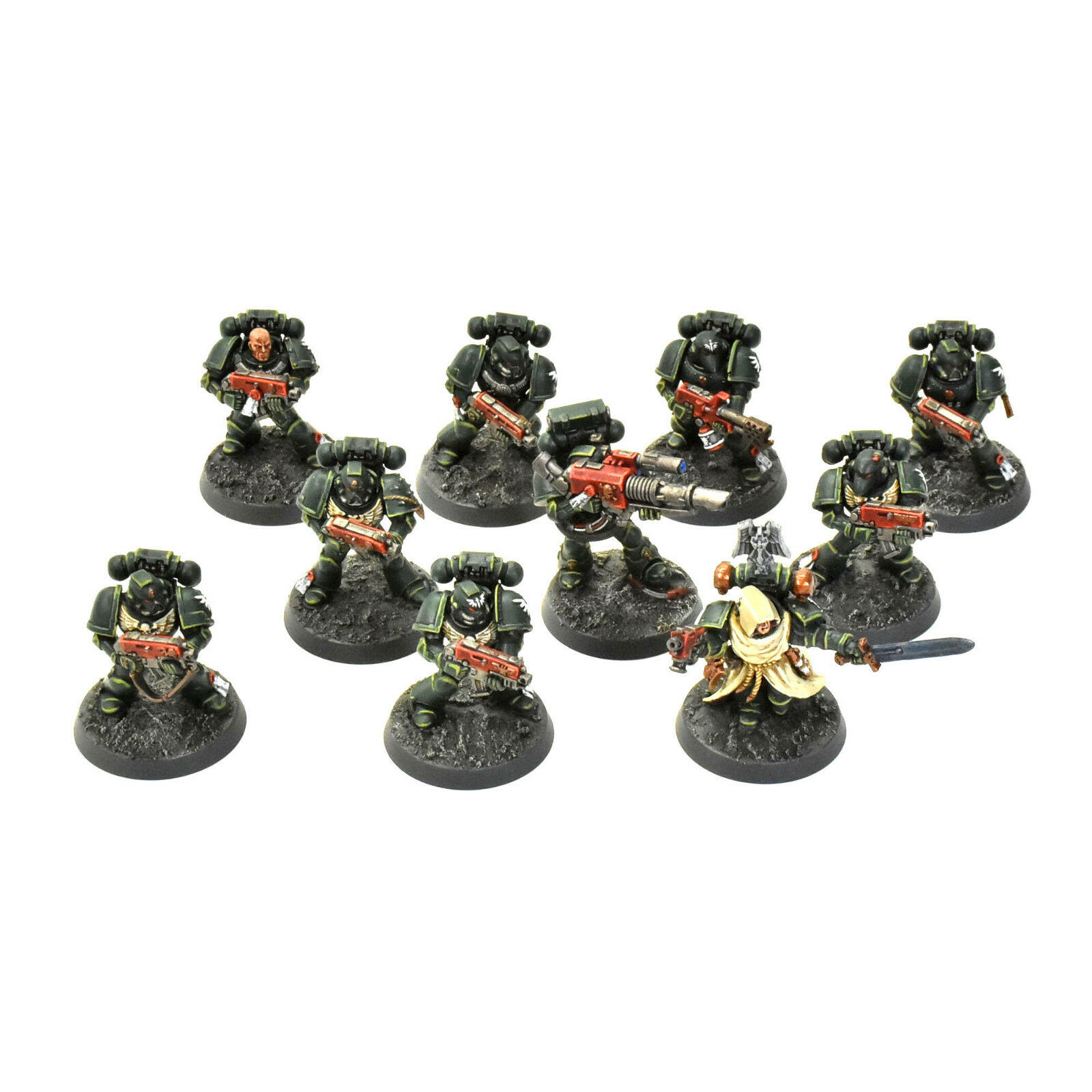 DARK ANGELS tactical squad  1 PRO PAINTED Warhammer 40K   livraison gratuite!