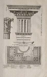 Fries Architektur architektur säule kapitell ornament tempel bauhütte akropolis fries