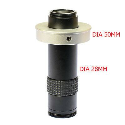 120X 20mm-980mm Ring Adapter Zoom Glass C-mount Lens for Microscope Camera