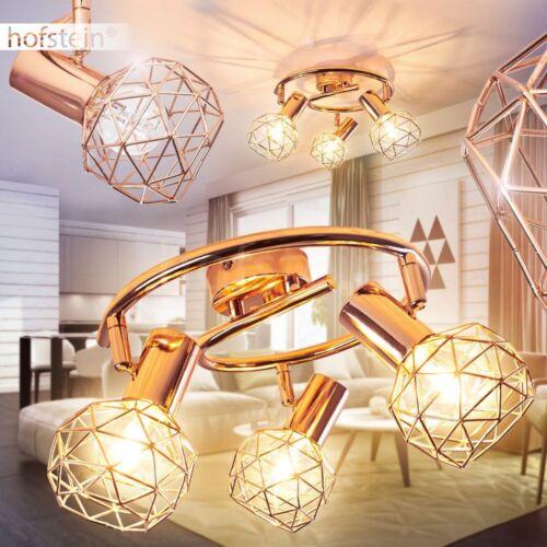 Kupferfarbene Decken Lampe Flur Strahler 3-flammige Wohn Schlaf Raum verstellbar