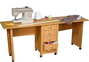 Sewing Table On Wheels.Details About Double Folding Mobile Desk Wheels Sewing Craft Table Sewing Table New