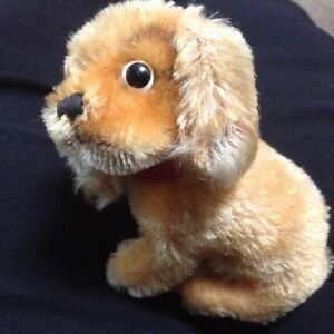 Vintage Steiff little sitting puppy from the 50-60's