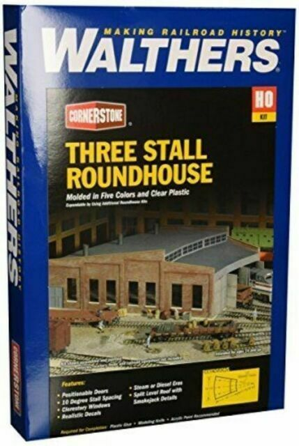 Kit  HO scale 2901 Walthers Cornerstone Roundhouse Add On Stalls