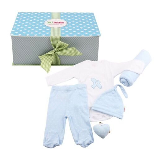 Minene Baby Shower Gift Box Set Blue Newborn Infant Boy Blanket 100/% Cotton