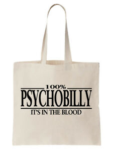 Psychobilly-Tote-Shoulder-Bag-Statement-Shopper-Gift-Funny-Music-Country-Punk