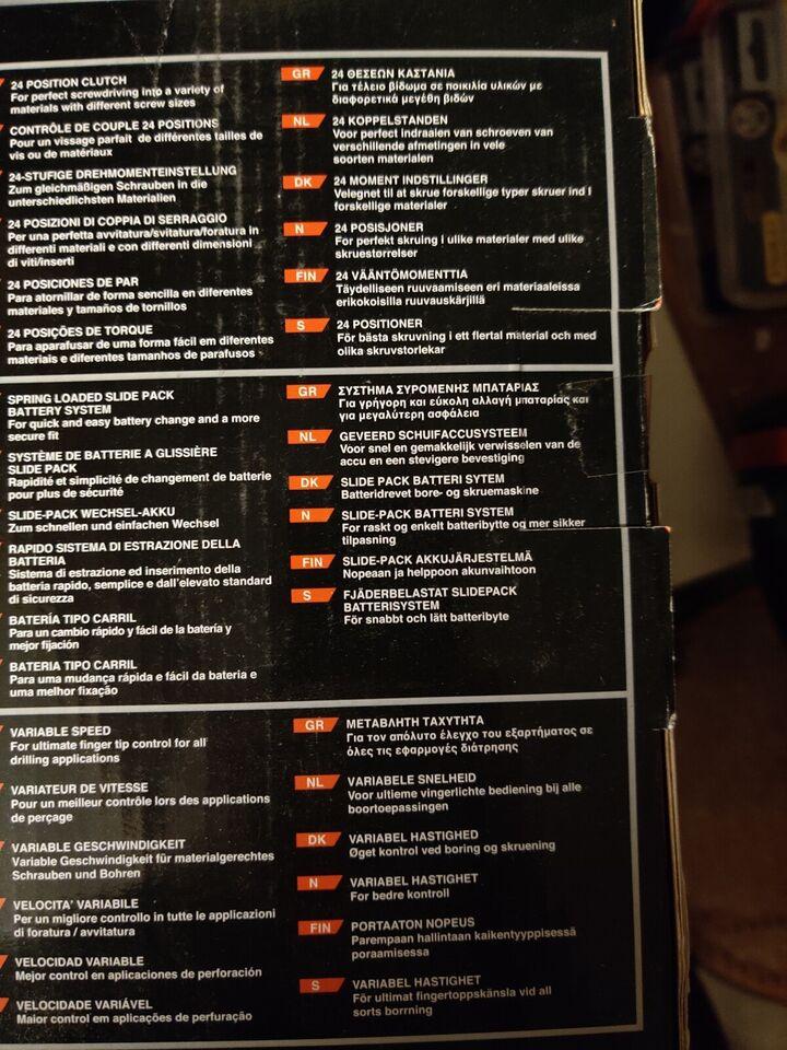 Boremaskine, skruemaskine, Black&Decker