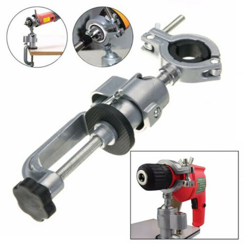 1*Clamp Bench Vise Grinder Holder Electric Drill Stand For Power Rotary Tools US