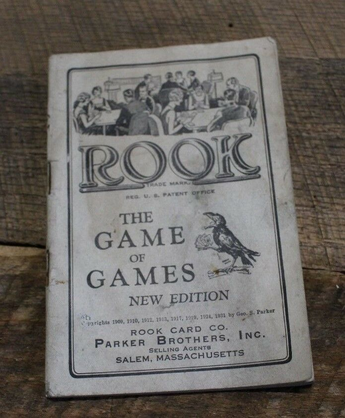 Antique 1931 Game Booklet Book Rook Card Game Parker Brothers Rule Book Booklet Playing 610857