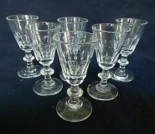 St Saint Louis et Baccarat 6 verres à liqueur Cristal Modèle Caton 19e siècle