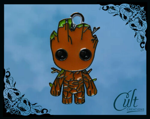 Marvel Guardians of the Galaxy Sterling Silver //faux leather Necklace Baby Groot