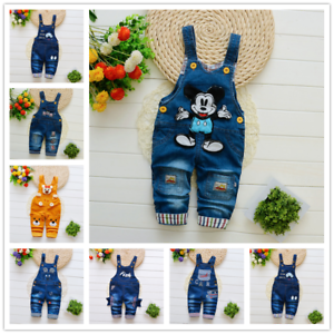 26-style-Kids-Baby-Boys-Girls-Overalls-Denim-Pants-Cartoon-Jeans-Casual-Jumpers