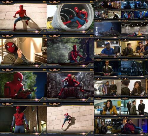 Topps Marvel Collect Spider-Man Homecoming Box 2019 28 CARD MOVIE STILLS SET