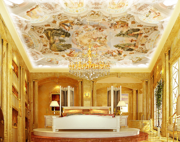 3D Gods Castle 63 Ceiling WallPaper Murals Wall Print Decal Deco AJ WALLPAPER UK