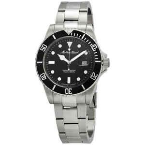 Mathey-Tissot-Mathey-Vintage-Quartz-Black-Dial-Men-039-s-Watch-H9010AN
