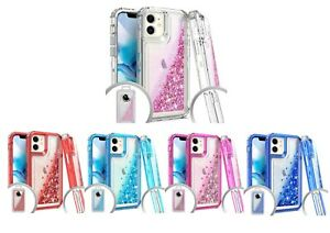 Details about For iPhone 12 Mini 12 Pro 12 Pro Max Glitter 3 in 1 Phone Case Cover Protection