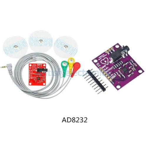 Single Lead AD8232 Double Poles Pulse Heart Rate Monitor ECG Sensor Arduino Kits