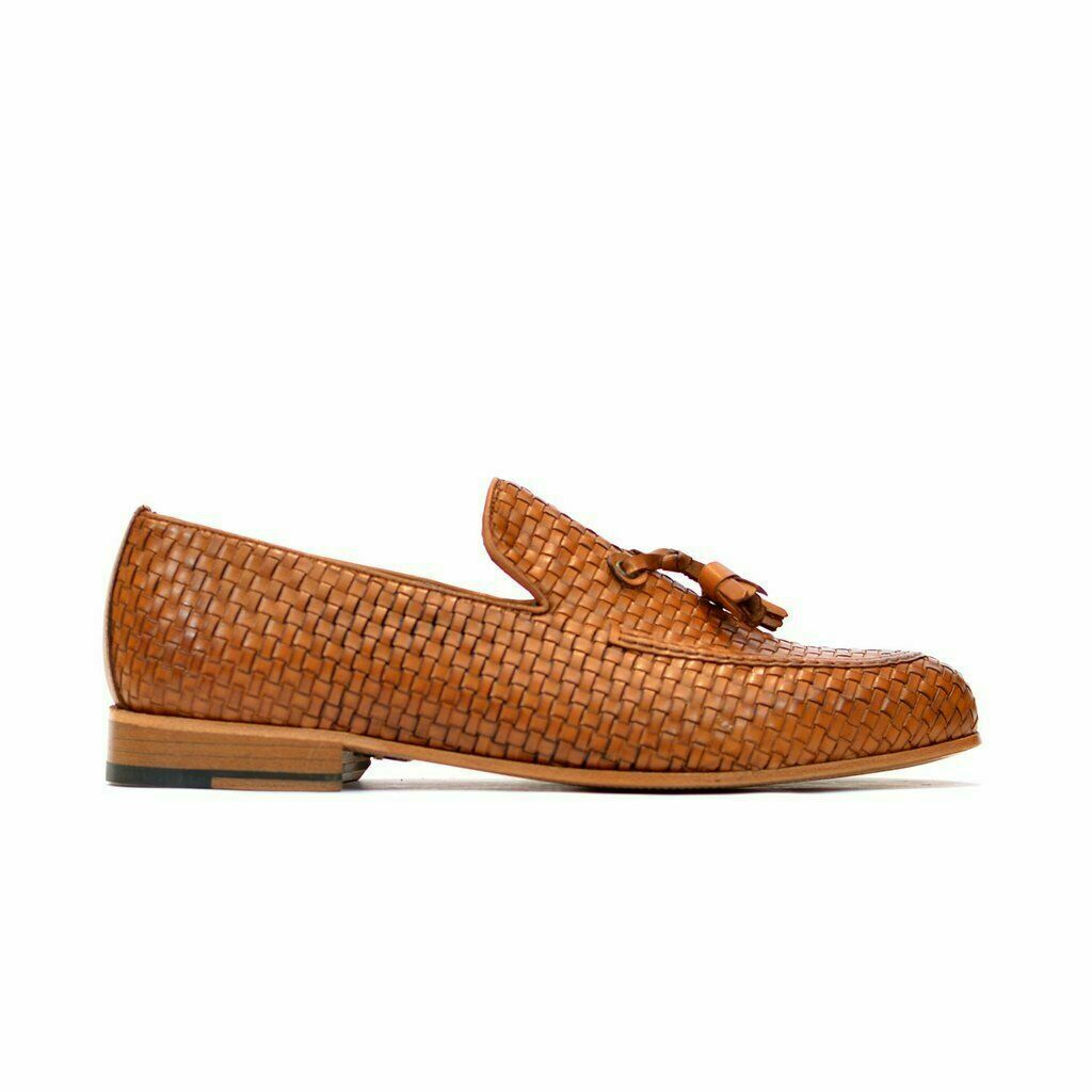 Puzzles Messieurs Véritable Tan Cuir Pantoufles & Slip On Mocassins Mocassins Chaussures