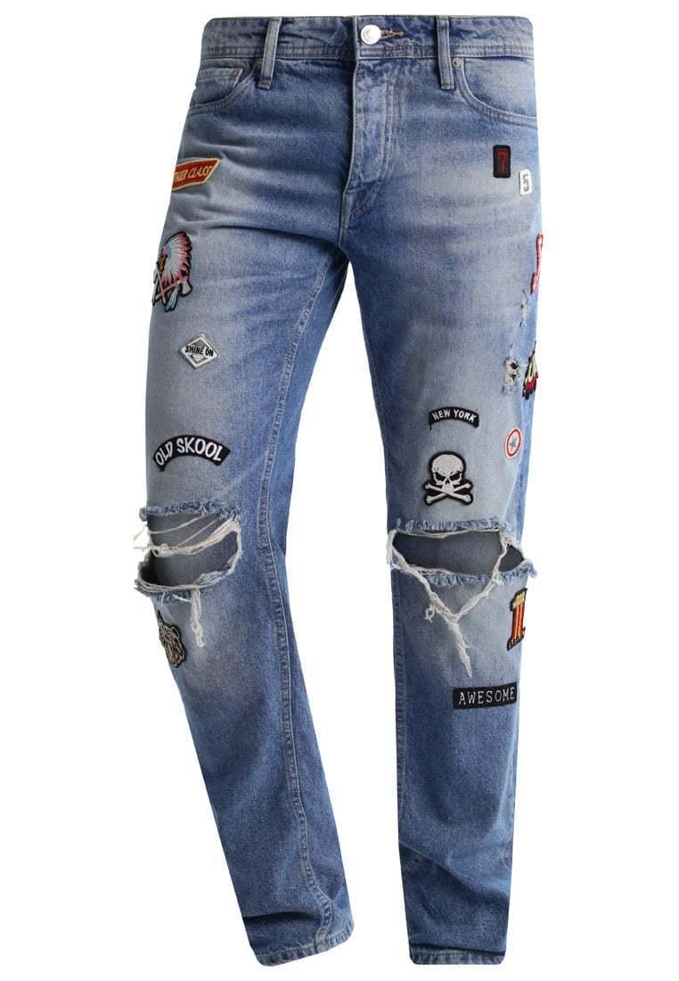 Jeans Jack y Jones 12122694 rasgaduras rougeos comodidad de los hommes cupo los p