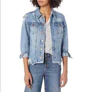 Blank-NYC-Raw-Hem-Denim-Jacket-Size-S