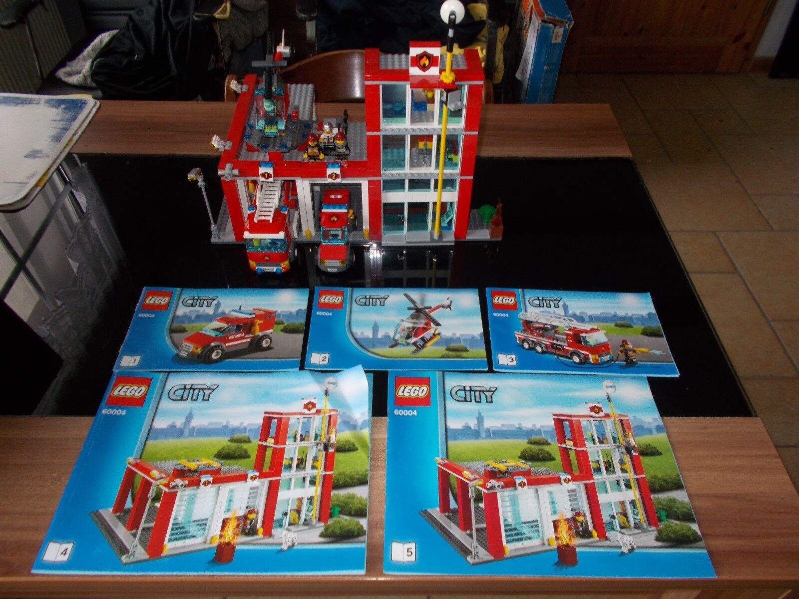 Lego® City Feuerwehr - 60004 - Feuerwehr Hauptquartier - mit Bauanleitung (BA)