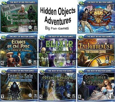 Big Fish Games Hidden Object Adventures Windows Pc Xp Vista 7 8 10 Sealed New Ebay