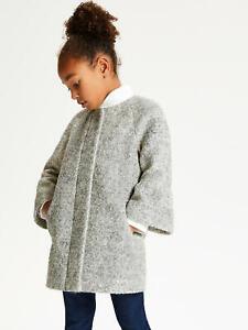 Girls-John-Lewis-Grey-Bell-Sleeve-Smart-Coat-Dress-Jacket-Kids-Age-2-to-13-Years