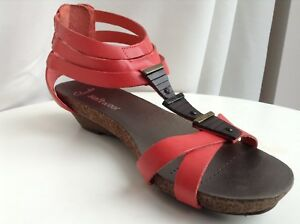 c7078dae7a84 Image is loading Clarks-Womens-Olivia-Flame-Coral-Leather-Sandals-size-