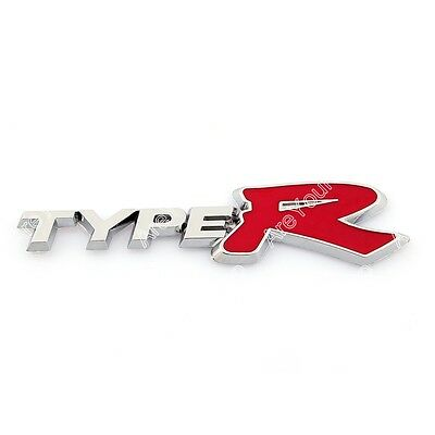 3D Emblem Badge Sticker Decal ABS Plastic Type R For HONDA FIT CIVIC ACURA NSX K
